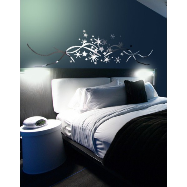 stickers miroir stickers etoiles effet miroir. Black Bedroom Furniture Sets. Home Design Ideas