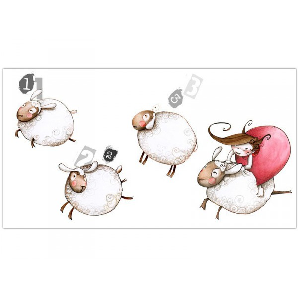 Stickers chambre enfant stickers saute mouton for Stickers mouton chambre bebe