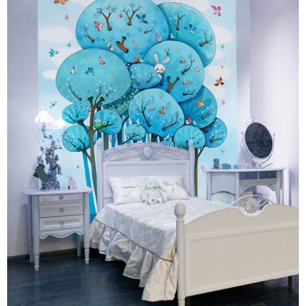 papier peint papier peint fresque dans les arbres. Black Bedroom Furniture Sets. Home Design Ideas