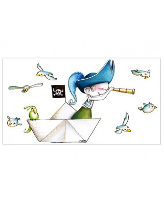 Stickers Pirate aux aguets