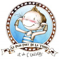 Stickers Le plus fort de la terre